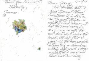 HVAC Company Testimonial Moraga, Lafayette, Orinda, Concord